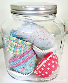 """LOVE this idea!  I am always wondering how to store these pretty papers.  Go to Michaels, they now have some very """"Cath Kidston"""" like cc papers in their dollar bins!"""