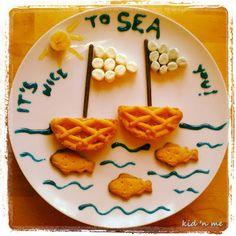 -it's nice to SEA you! Funny Food, Food Humor, Bento, Waffles, Friday, Sea, Nice, Breakfast, Morning Coffee