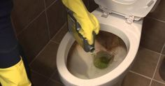 How to clean a toilet with CLR Calcium, Lime & Rust Remover & CLR Bath & Kitchen Cleaner Toilet Cleaning, Deep Cleaning, Cleaning Hacks, Furniture Cleaner, Furniture Sale, Discount Furniture, Furniture Ideas, Toilet Stains, How To Clean Rust