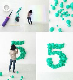 Make your own giant balloon number! #balloondecorations