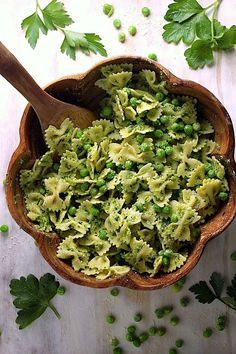 Farfalle with Peas, Parsley, and Parmesan
