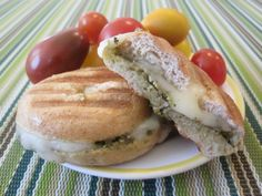 Bagel Pesto Panini on Weelicious