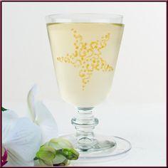Glas mit Reliefpaste bemalen