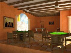Game room at the Club House. Hacienda del Rio. Playa del Carmen real estate