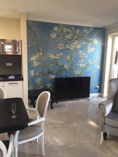 Fotobehang Amandelbloesem / Photo Wallpaper Almond Blossom collection Van Gogh - BN Wallcoverings