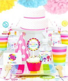 Rainbow Birthday Party in a Box from www.simplygenie.com