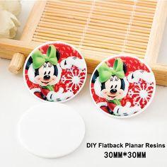 50pcs/lot Kawaii Cartoon Christmas Mouse Flatback Resins Planar Resin Crafts for DIY Christmas Home Decoration Accessories
