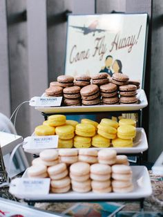 French Macaroons! You can make them any color(s) to match your wedding colors or any event!