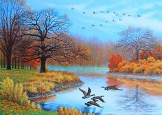 Image result for fall wallpaper Pictures To Paint, Art Pictures, Autumn Pictures, Autumn Scenes, Country Landscaping, Country Scenes, Cross Paintings, Naive Art, Autumn Art