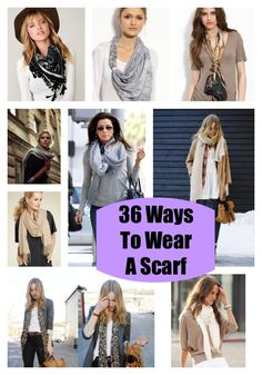 36 Ways to Wear a Scarf
