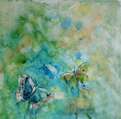 Allegro original butterfly painting