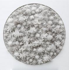 cette découpe de papier a été inspiré par un microbe au microscope!