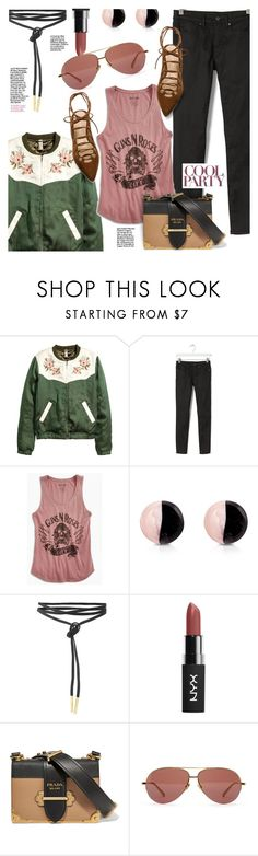 """Cool Party Fall Fashion"" by stacey-lynne ❤ liked on Polyvore featuring Banana Republic, Lucky Brand, Antica Murrina, Prada, Linda Farrow and Stuart Weitzman"