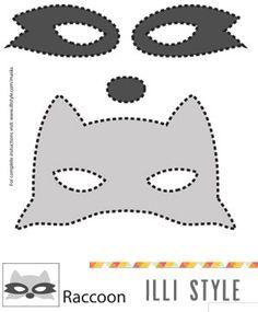 "raccoon mask printable template - <a href=""http://illistyle.com"" rel=""nofollow"" target=""_blank"">illistyle.com</a>"