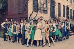 1950s wedding party