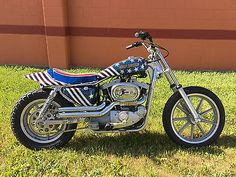 For sale is a 1974 Harley Davidson XLH Sportster. Old Harley Davidson, Harley Davidson Sportster, Evil Kenevil, Motorcycle Posters, Vintage Motocross, Custom Choppers, Triumph Bonneville, Motorcycles For Sale, Cool Bikes