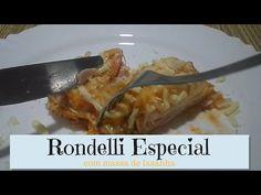 Rondelli com massa de lasanha - YouTube