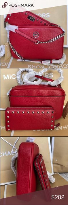 Michael Kors Set 100% Authentic Michael Kors Purse Crossbody and Wallet, brand new with tag! Michael Kors Bags Crossbody Bags