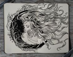Gabriel Picolo Forbidden Love - sun and moon Love Tattoos, Body Art Tattoos, Tattoo Drawings, Art Drawings, Tatoos, Drawing Art, Tatoo Art, Tattoo Life, Sun And Moon Drawings