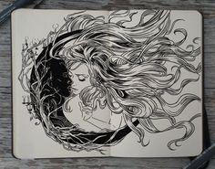 #186 Forbidden Love by 365-DaysOfDoodles.deviantart.com on @deviantART this would make a cool tattoo