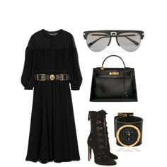 Untitled #368 by laviedefashion on Polyvore featuring Yves Saint Laurent, Alaïa, Hermès, Versus and Balmain