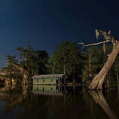 Pierre Part Louisiana in March 2015. Following Hurricane Katrina in 2005 and the BP oil spill in 2010 @frankrelle took to the rivers and swamps of #Louisiana to document the states long road to recovery. To shoot photos like this one he works at night from a flat boat rigged with lights a generator and tripods that he can stick into the water to hold his camera steady. There is something about long-exposure night photography as a technique @frankrelle told the @nytimes #lensblog. Its a more…