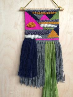 Woven Wall Hanging - At the Circus by JulesMadeShop on Etsy