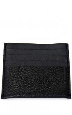Jonas Olsson black leather card case - unconventional concept store
