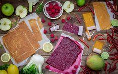 Apple, Mango & Raspberry Fruit Leathers