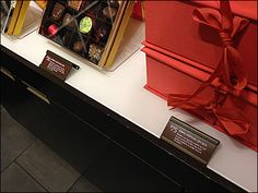 Godiva Freestanding Chocolate Label Holders Face Up Visual Merchandising, Floating Nightstand, Label, Chocolate Brown, Retail, Candy, Display, Marketing, Store