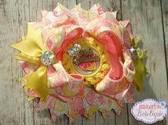 Pink Lemonade Ott stacked boutique Over the top by Raylori on Etsy, $14.99