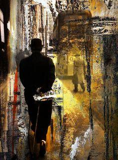 Modern Art, Vintage Modern Art, Collage, Photomontage, Painted Photographs, Figurative Art, Fine Art Print, Giclee Print,