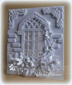 Jolanda's Crea-Blogg: Window White on White... I like so much those bricks!!