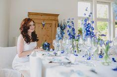 Blaues Hochzeitskonzept Frl. K sagt Ja4 Blue Wedding, Wedding Flowers, Baby Party, Decoration Table, Wedding Events, Weddings, Christening, Getting Married, Bright