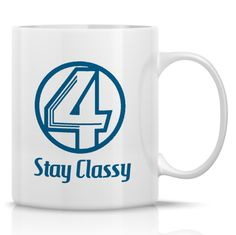 Channel 4 News Coffee Mug from Anchorman  Ron by HumerusWares, $12.99