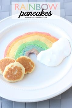 Rainbow  Pancakes fun for kids on St. Patrick's Day!