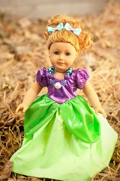 Ariel American Girl Doll Chunky Necklace by MyMagicalVacation, $12.95