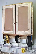 garage shelving plans - small wall cabinet