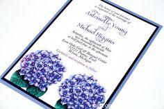 Hydrangea Wedding Invitation Invitation Card Design, Invitation Cards, Wedding Invitations, Hydrangea, Reception, Wedding Ideas, Weddings, Wedding Invitation Cards, Wedding