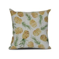 Bay Isle Home CostiganTossed Pineapples Throw Pillow Size: