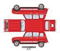 renault 4 paper car