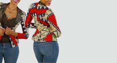 bhfshoppingmall: African Abstract Blazer