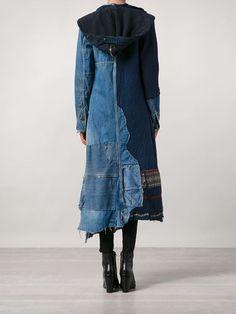 Single Breasted Coats for women at Farfetch. Fashion Now, Denim Fashion, Boho Fashion, Fashion Design, Estilo Jeans, Estilo Boho, Patchwork Denim, Boho Outfits, Casual Outfits