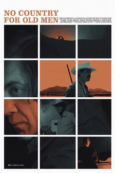 An alternative movie poster for the film No Country for Old Men, created by Adam Juresko, featured on AMP