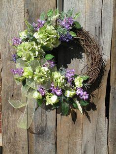 Spring Wreath Summer Wreath Front Door Wreath by KathysWreathShop, $89.99
