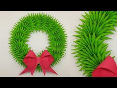 Today I am sharing a paper Christmas wreath making tutorial. It's very easy and simple Christmas Decorations Ideas instruction. You can the paper wreath for . Easy Christmas Decorations, Christmas Wreaths, How To Make Paper, How To Make Wreaths, Easy Paper Crafts, Christmas Crafts, Book Page Crafts, Paper Flowers Diy, Mothers Day Crafts