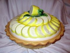 LEMON MERENGUE PIE CERAMIC PIE DISH PLATE AND LID (06/08/2013) : pie plate with lid - Pezcame.Com