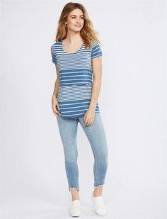 191bc90104fc3 Motherhood Maternity BOUNCEBACK Frayed Hem Ankle Length Post Pregnancy Jeans