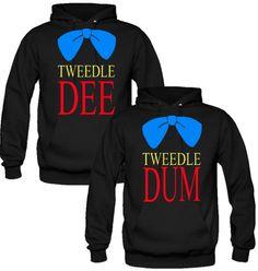 Tweedle Dee Tweedle Dum Love Couple Hoodies