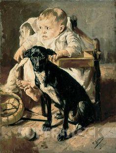 Gimeno I Arasa, Francesc - La fillette et son compagnon - Musée de Montserrat
